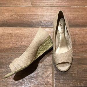 Kelly & Katie Wedge Peep Toe Shoes